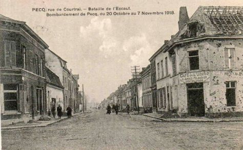 Pecq rue de courtrai1918